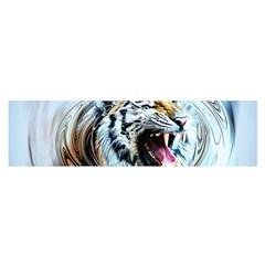 Tiger Animal Art Swirl Decorative Satin Scarf (oblong)