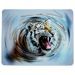 Tiger Animal Art Swirl Decorative Jigsaw Puzzle Photo Stand (rectangular)