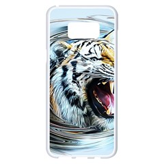 Tiger Animal Art Swirl Decorative Samsung Galaxy S8 Plus White Seamless Case