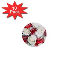 Flowers Roses Bouquet Art Nature 1  Mini Buttons (10 Pack)