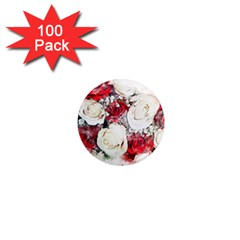 Flowers Roses Bouquet Art Nature 1  Mini Magnets (100 Pack)