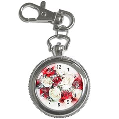 Flowers Roses Bouquet Art Nature Key Chain Watches by Nexatart