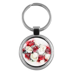 Flowers Roses Bouquet Art Nature Key Chains (round)