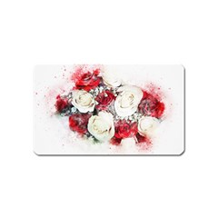 Flowers Roses Bouquet Art Nature Magnet (name Card)