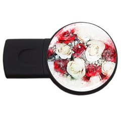 Flowers Roses Bouquet Art Nature Usb Flash Drive Round (2 Gb) by Nexatart