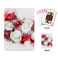 Flowers Roses Bouquet Art Nature Playing Card