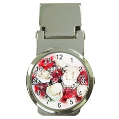 Flowers Roses Bouquet Art Nature Money Clip Watches