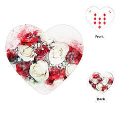 Flowers Roses Bouquet Art Nature Playing Cards (heart)