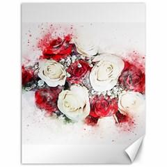 Flowers Roses Bouquet Art Nature Canvas 12  X 16