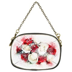 Flowers Roses Bouquet Art Nature Chain Purses (two Sides)