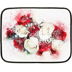 Flowers Roses Bouquet Art Nature Fleece Blanket (mini)