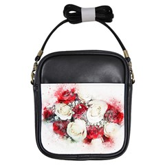Flowers Roses Bouquet Art Nature Girls Sling Bags