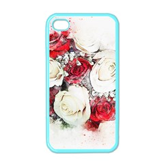 Flowers Roses Bouquet Art Nature Apple Iphone 4 Case (color) by Nexatart