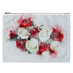 Flowers Roses Bouquet Art Nature Cosmetic Bag (xxl)