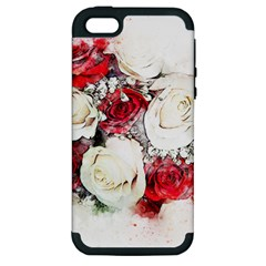 Flowers Roses Bouquet Art Nature Apple Iphone 5 Hardshell Case (pc+silicone)