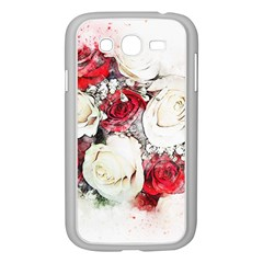Flowers Roses Bouquet Art Nature Samsung Galaxy Grand Duos I9082 Case (white)