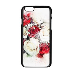 Flowers Roses Bouquet Art Nature Apple Iphone 6/6s Black Enamel Case