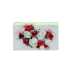 Flowers Roses Bouquet Art Nature Cosmetic Bag (xs) by Nexatart