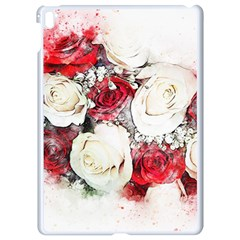 Flowers Roses Bouquet Art Nature Apple Ipad Pro 9 7   White Seamless Case by Nexatart