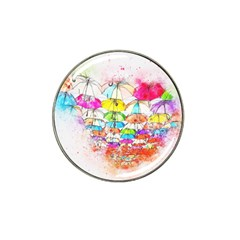Umbrella Art Abstract Watercolor Hat Clip Ball Marker (10 Pack)