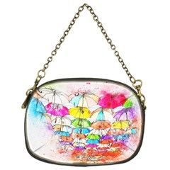 Umbrella Art Abstract Watercolor Chain Purses (one Side)