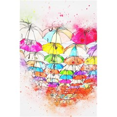 Umbrella Art Abstract Watercolor 5 5  X 8 5  Notebooks