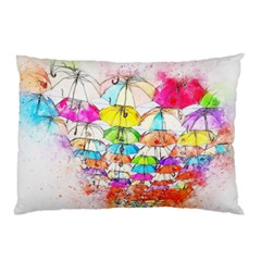 Umbrella Art Abstract Watercolor Pillow Case (two Sides)