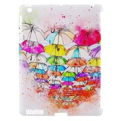 Umbrella Art Abstract Watercolor Apple Ipad 3/4 Hardshell Case (compatible With Smart Cover)