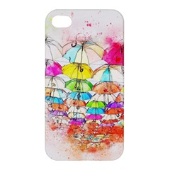 Umbrella Art Abstract Watercolor Apple Iphone 4/4s Premium Hardshell Case