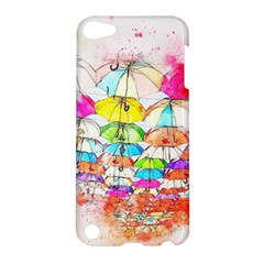 Umbrella Art Abstract Watercolor Apple Ipod Touch 5 Hardshell Case by Nexatart