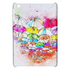 Umbrella Art Abstract Watercolor Apple Ipad Mini Hardshell Case