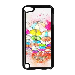 Umbrella Art Abstract Watercolor Apple Ipod Touch 5 Case (black) by Nexatart