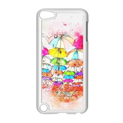 Umbrella Art Abstract Watercolor Apple Ipod Touch 5 Case (white) by Nexatart