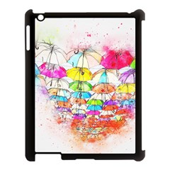 Umbrella Art Abstract Watercolor Apple Ipad 3/4 Case (black)