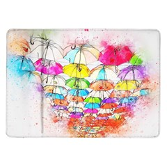 Umbrella Art Abstract Watercolor Samsung Galaxy Tab 10 1  P7500 Flip Case