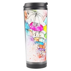 Umbrella Art Abstract Watercolor Travel Tumbler