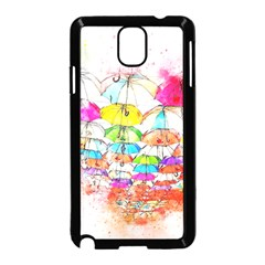 Umbrella Art Abstract Watercolor Samsung Galaxy Note 3 Neo Hardshell Case (black)