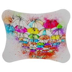 Umbrella Art Abstract Watercolor Jigsaw Puzzle Photo Stand (bow)