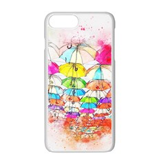 Umbrella Art Abstract Watercolor Apple Iphone 7 Plus Seamless Case (white)