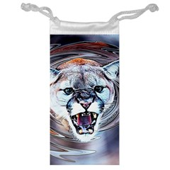 Cougar Animal Art Swirl Decorative Jewelry Bag by Nexatart