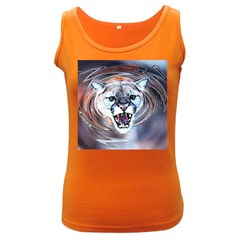 Cougar Animal Art Swirl Decorative Women s Dark Tank Top by Nexatart