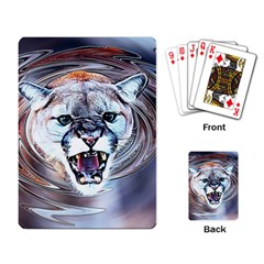 Cougar Animal Art Swirl Decorative Playing Card