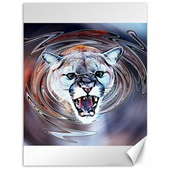 Cougar Animal Art Swirl Decorative Canvas 36  X 48   by Nexatart