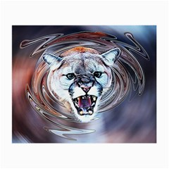 Cougar Animal Art Swirl Decorative Small Glasses Cloth (2 Side)