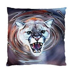 Cougar Animal Art Swirl Decorative Standard Cushion Case (two Sides)