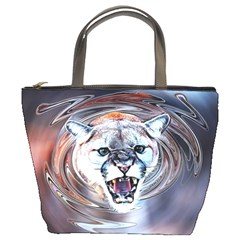 Cougar Animal Art Swirl Decorative Bucket Bags