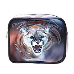 Cougar Animal Art Swirl Decorative Mini Toiletries Bags by Nexatart