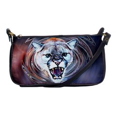 Cougar Animal Art Swirl Decorative Shoulder Clutch Bags
