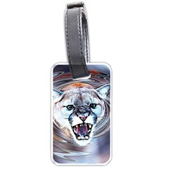 Cougar Animal Art Swirl Decorative Luggage Tags (one Side)