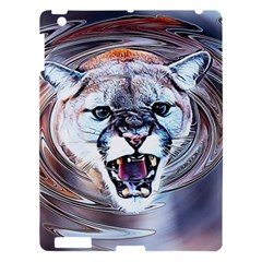 Cougar Animal Art Swirl Decorative Apple Ipad 3/4 Hardshell Case by Nexatart